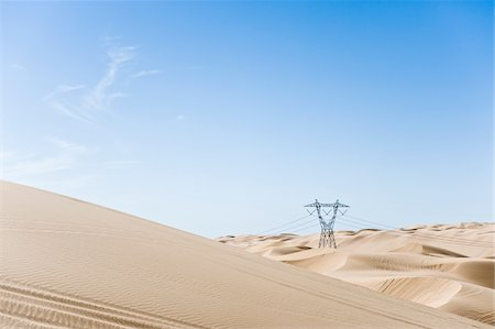 Hydro Tower, Imperial Sand Dunes Recreation Area, California, USA Stock Photo - Premium Royalty-Free, Code: 600-03696924