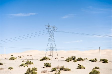 Hydro Tower, Imperial Sand Dunes Recreation Area, California, USA Stock Photo - Premium Royalty-Free, Code: 600-03696925