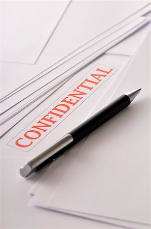Confidential Papers Stock Photo - Premium Royalty-Free, Code: 600-03697884
