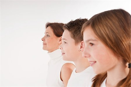 Profile of Mother and Children Stock Photo - Premium Royalty-Free, Code: 600-03697900