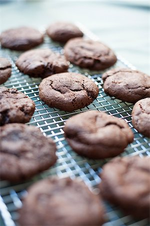 Freshly Baked Gluten-free Chocolate Cookies Stock Photo - Premium Royalty-Free, Code: 600-03698376
