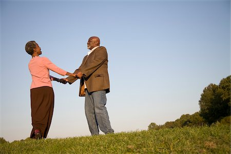 Couple Together Outdoors Stock Photo - Premium Royalty-Free, Code: 600-03692093