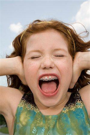 Little Girl Screaming Stock Photo - Premium Royalty-Free, Code: 600-03692103