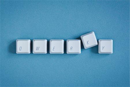 Computer Keys spelling Qwerky Stock Photo - Premium Royalty-Free, Code: 600-03719294