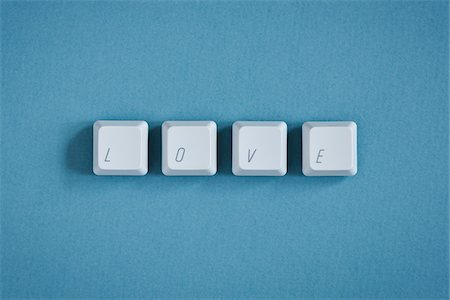 Computer Keys spelling Love Stock Photo - Premium Royalty-Free, Code: 600-03719293