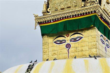 Swayambhunath, Kathmandu, Bagmati, Madhyamanchal, Nepal Stock Photo - Premium Royalty-Free, Code: 600-03737744