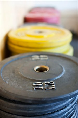 Weights at Gym, Newport Beach, Orange County, California, USA Stock Photo - Premium Royalty-Free, Code: 600-03738481