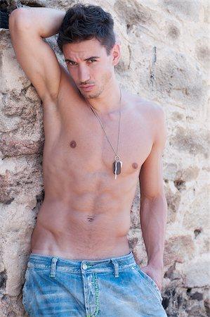 shirtless men - Portrait of Man Stock Photo - Premium Royalty-Free, Code: 600-03738707