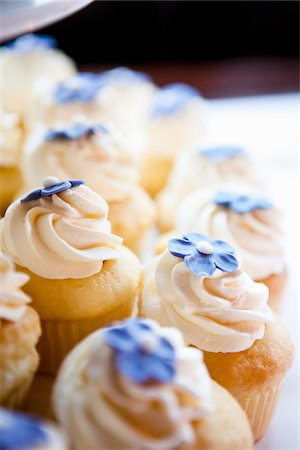 sweet   no people - Close-up of Cupcakes Stock Photo - Premium Royalty-Free, Code: 600-03738752