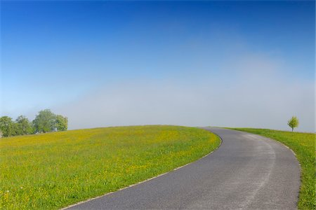 Road and Meadow in Spring, Mostviertel, Lower Austria, Austria Stock Photo - Premium Royalty-Free, Code: 600-03738940