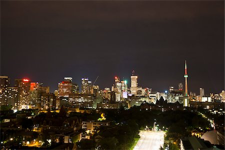 Skyline of Toronto, Ontario, Canada Stock Photo - Premium Royalty-Free, Code: 600-03739030