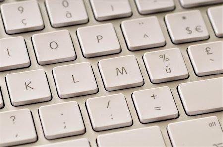 Close-up of Keyboard Stock Photo - Premium Royalty-Free, Code: 600-03768642