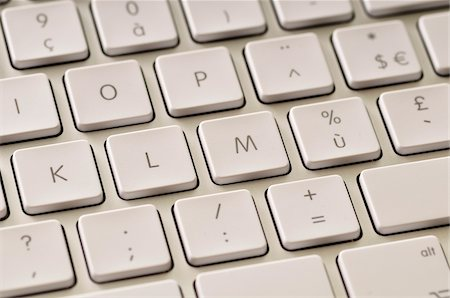 Close-up of Keyboard Stock Photo - Premium Royalty-Free, Code: 600-03768642