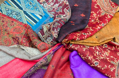 decorative - Fabric, Dyers Souk, Medina, Marrakech, Marrakech-Tensift-El Haouz Region, Morocco Stock Photo - Premium Royalty-Free, Code: 600-03778064