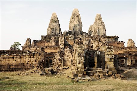 southeast asian - 10th Century Khmer Temple of Pre Rup, Angkor, Cambodia Stock Photo - Premium Royalty-Free, Code: 600-03805603