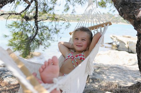 Girl in Hammock Stock Photo - Premium Royalty-Free, Code: 600-03836186
