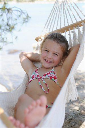 Girl in Hammock Stock Photo - Premium Royalty-Free, Code: 600-03836187