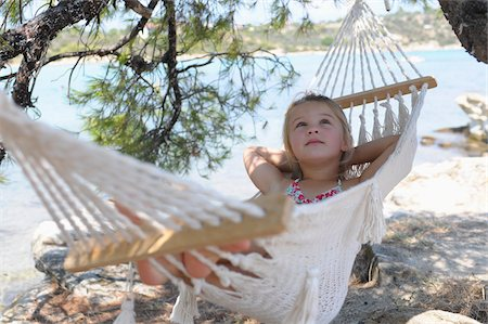 Girl in Hammock Stock Photo - Premium Royalty-Free, Code: 600-03836188