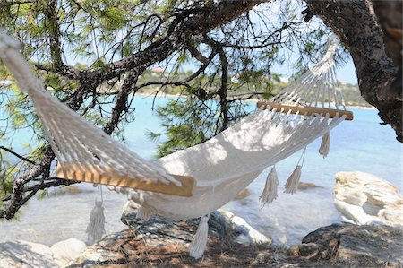 Hammock by Water Stock Photo - Premium Royalty-Free, Code: 600-03836195