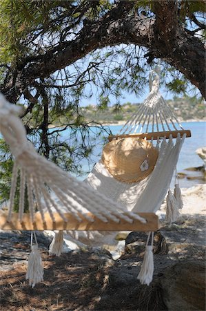 Hammock by Water Stock Photo - Premium Royalty-Free, Code: 600-03836197