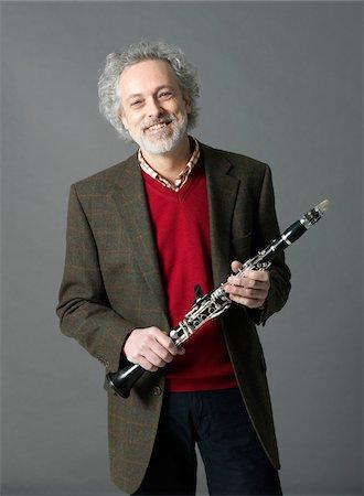 Man with Clarinet Stock Photo - Premium Royalty-Free, Code: 600-03836288