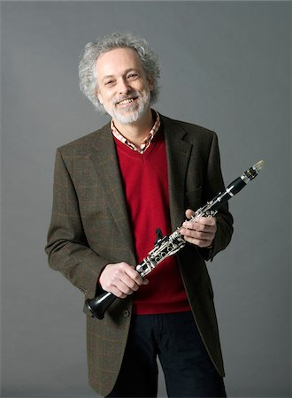 Man with Clarinet Stock Photo - Premium Royalty-Free, Code: 600-03836288