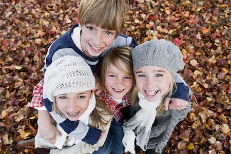 Portrait of Children in Autumn Stock Photo - Premium Royalty-Free, Code: 600-03848747