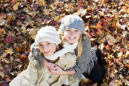 Portrait of Girls in Autumn Stock Photo - Premium Royalty-Free, Code: 600-03848743