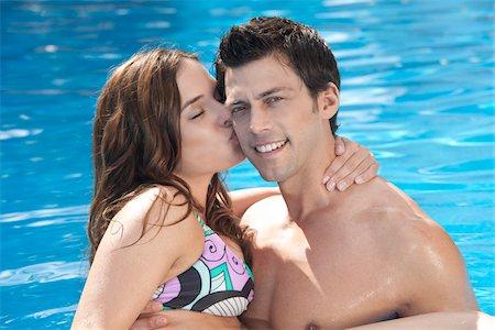 Couple, Reef Playacar Resort and Spa Hotel, Playa del Carmen, Quintana Roo, Yucatan Peninsula, Mexico Stock Photo - Premium Royalty-Free, Code: 600-03849625