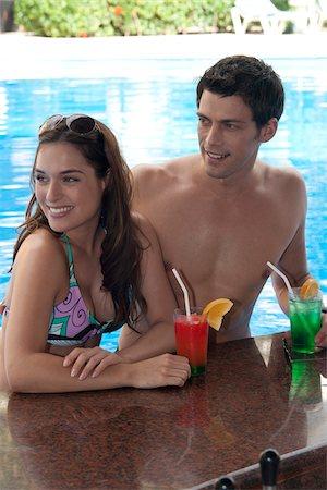 exterior bar - Couple, Reef Playacar Resort and Spa Hotel, Playa del Carmen, Quintana Roo, Yucatan Peninsula, Mexico Stock Photo - Premium Royalty-Free, Code: 600-03849634