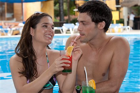 Couple, Reef Playacar Resort and Spa Hotel, Playa del Carmen, Quintana Roo, Yucatan Peninsula, Mexico Stock Photo - Premium Royalty-Free, Code: 600-03849638