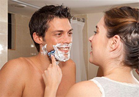 Couple in Bathroom, Reef Playacar Resort and Spa, Playa del Carmen, Mexico Stock Photo - Premium Royalty-Free, Code: 600-03849667
