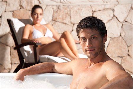 Couple at Spa, Reef Playacar Resort and Spa, Playa del Carmen, Mexico Stock Photo - Premium Royalty-Free, Code: 600-03849708
