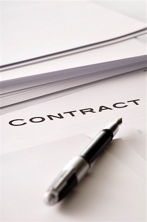Pen on Contract Stock Photo - Premium Royalty-Free, Code: 600-03865097
