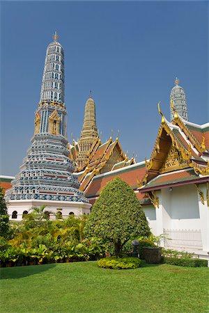 southeast asian - Prang, Phra Prang Paed Ong and Royal Pantheon, Wat Phra Kaew, Grand Palace, Bangkok, Thailand Stock Photo - Premium Royalty-Free, Code: 600-03865499