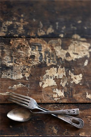 Antique Cutlery Stock Photo - Premium Royalty-Free, Code: 600-03891292