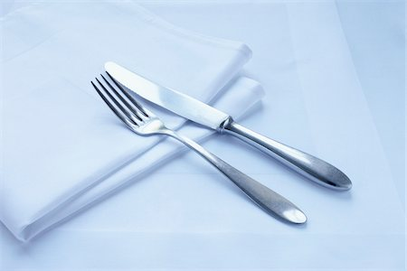 fork - Close-up of Cutlery and Napkin Stock Photo - Premium Royalty-Free, Code: 600-03907411