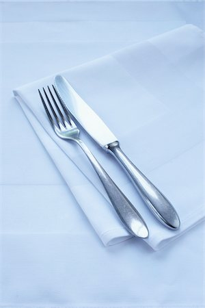 Close-up of Cutlery and Napkin Stock Photo - Premium Royalty-Free, Code: 600-03907412