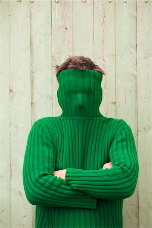 seasonal - Man with Turtleneck Covering Face Stock Photo - Premium Royalty-Free, Code: 600-03907657