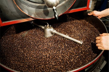 Coffee beans in coffee grinder Stock Photo - Premium Royalty-Free, Code: 614-05399301