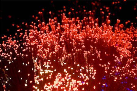 fibre optic - Red fibre optic lights Stock Photo - Premium Royalty-Free, Code: 614-05399875
