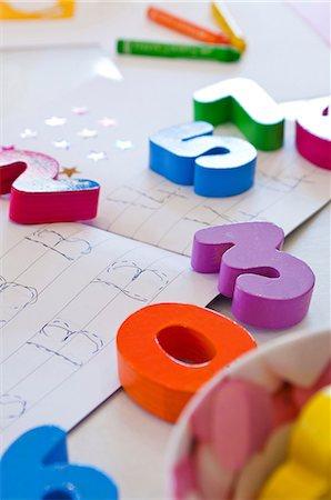Children's mathematics equipment Stock Photo - Premium Royalty-Free, Code: 614-05556728