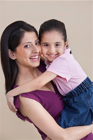 Portrait of mother and daughter Stock Photo - Premium Royalty-Free, Code: 614-05955361