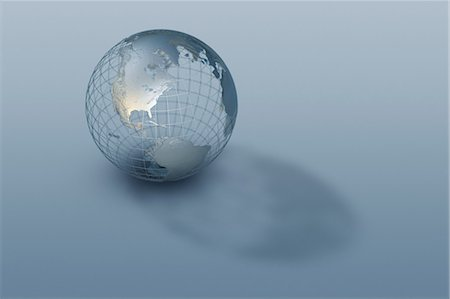 3D globe wire-frame model Stock Photo - Premium Royalty-Free, Code: 614-05955540