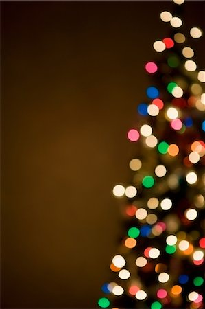 sparkling - Christmas lights on tree, out of focus Stock Photo - Premium Royalty-Free, Code: 614-05955787