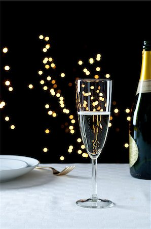 Champagne on a table Stock Photo - Premium Royalty-Free, Code: 614-06002066