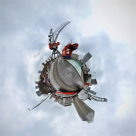 Rotterdam, Netherlands, little planet effect Stock Photo - Premium Royalty-Free, Code: 614-06002166
