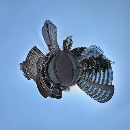 Amstel Business Park, Amsterdam, little planet effect Stock Photo - Premium Royalty-Free, Code: 614-06002168