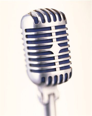 Old fashioned microphone, close up Stock Photo - Premium Royalty-Free, Code: 614-06002312