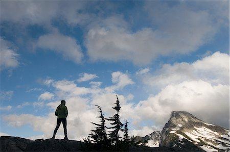 extremism - Woman admiring mountain view, Picket Range, North Cascades National Park, Washington, USA Stock Photo - Premium Royalty-Free, Code: 614-06002334